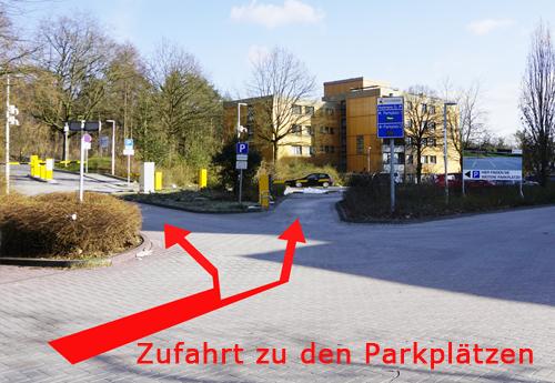 Hinweis Parkplatz